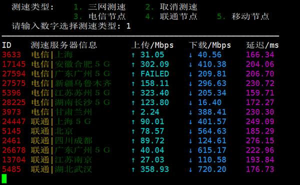 搬瓦工DC4 MCOM 国内就节点下载测速
