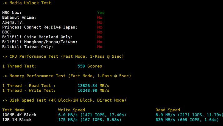 搬瓦工DC9 CN2 GIA 网络和CPU性能